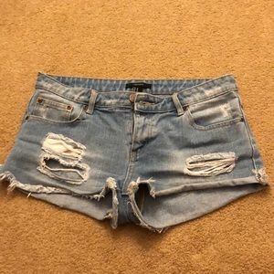 Forever 21 Distressed Light Wash Shorts